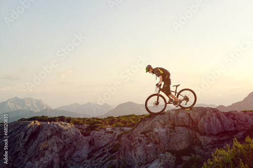 Mountainbiker Canvas Print