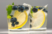 Blueberries Summer Lemonade