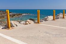 Empty Parking Area With Sea Landscape