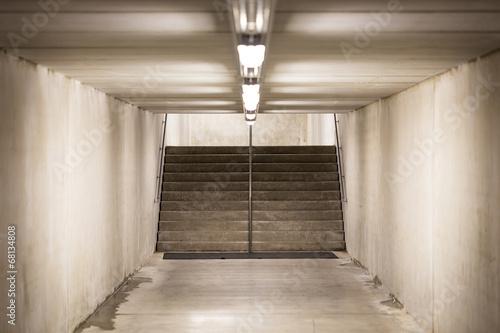 Foto op Plexiglas Trappen underground passage