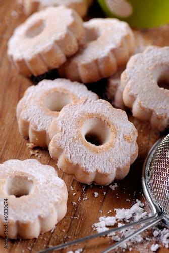 biscotti canestrelli sul tavolo di legno Fototapeta
