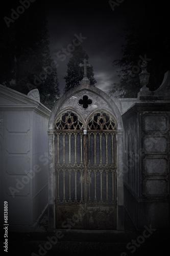 Photo sur Toile Cimetiere Cemetery chapel