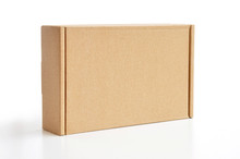 Brown Cardboard Box As A Parcel - Isolated
