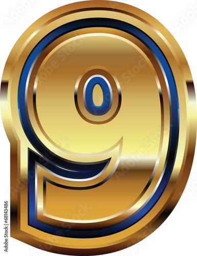 Fotografia  Golden Font Number 9