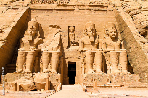 In de dag Egypte Ägypten, Abu Simbel,Felstempel