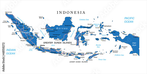 Indonesia map Canvas Print