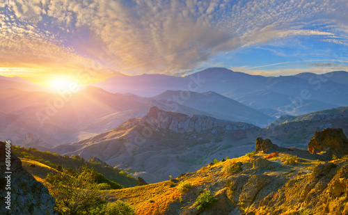 Cadres-photo bureau Morning Glory Mountain sunrise