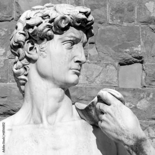 Obrazy Michał Anioł Buonarotti  closeup-of-david-by-michelangelo-piazza-signoria-in-florence