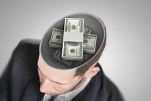 Money On Businessman's Mind