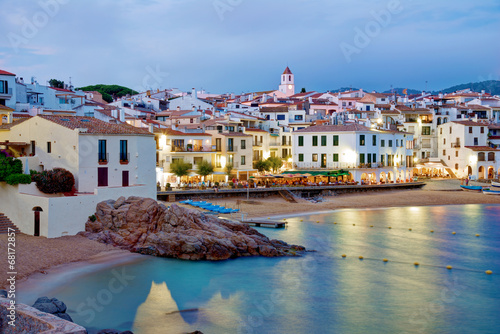 Valokuva Calella de Palafrugell at night, Costa brava, Catalonia, Spain