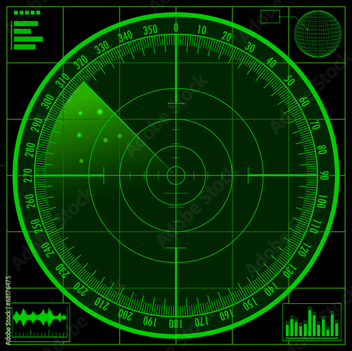 Cuadros en Lienzo  Radar screen