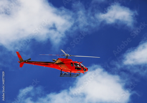 Tuinposter Helicopter Mountain Rescue Helicopter
