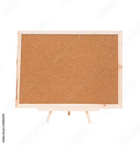 Fotografie, Obraz  Cork board isolated on white background, clipping path
