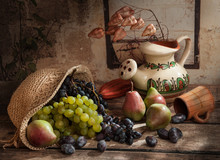 Hat With Grapes