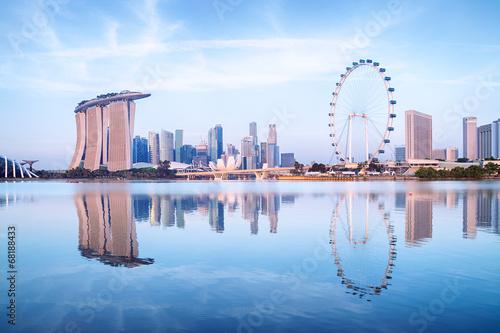 Tuinposter Singapore Singapore Skyline