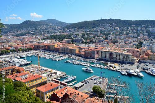 Deurstickers Nice nice city port in france photo