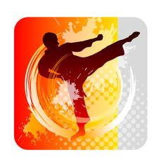 Panel Szklany Sztuki walki karate - 54