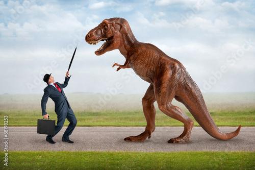 Fotografie, Obraz  Koncept nepřátelské převzetí obchodního