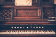 canvas print picture - Vintage Organ