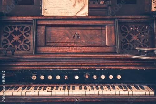 Poster Retro Vintage Organ