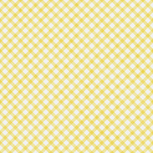 Pale Yellow Gingham Pattern Re...
