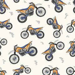 Tapeta Seamless texture with the modern motorcycle