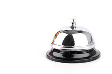 Service Bell Isolated White Ba...