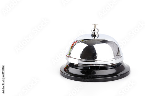 Fotografie, Tablou Service bell isolated white background