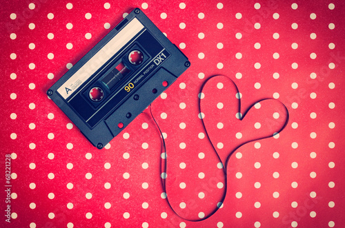 Fotografía  audio cassette with magnetic tape