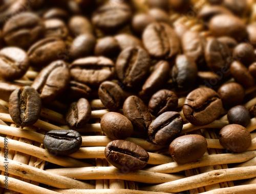 Plakat ziarna kawy