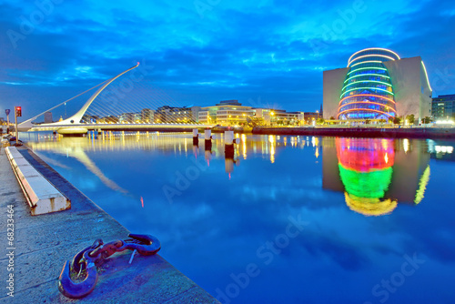 Canvas Print Samuel Beckett Bridge in Dublin