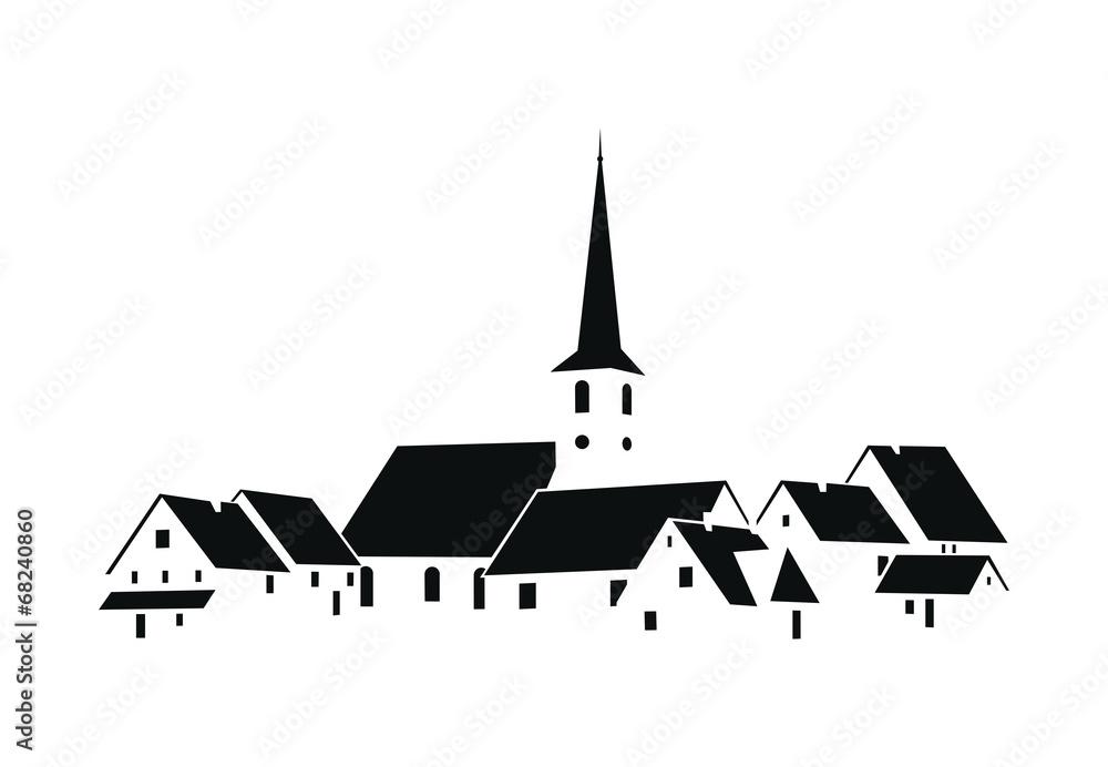Fototapeta Vecteur Village