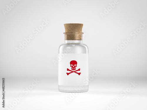Fotografía  glass bottle with poison label