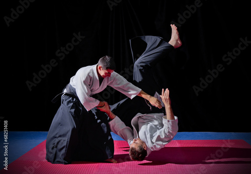 Photo Fight between two aikido fighters