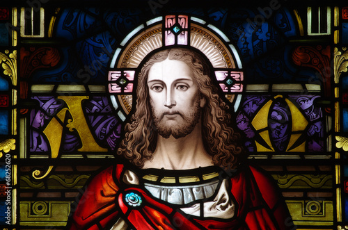 Jesus Christ in stained glass #68252620