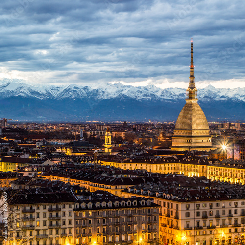 Canvastavla Torino al tramonto, Italia