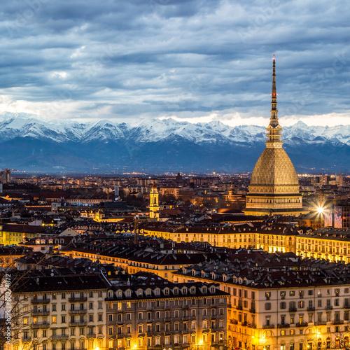 Photo  Torino al tramonto, Italia