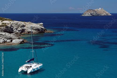 Fotografie, Obraz catamaran dans le cap corse