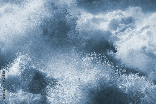 Poster Water Big wave closeup
