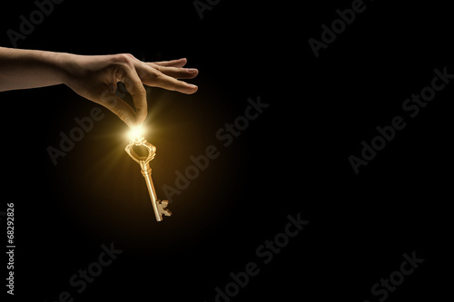 Foto op Plexiglas Gymnastiek Key in hand