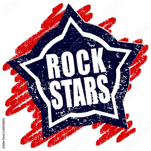 Rubber stamp Rock stars