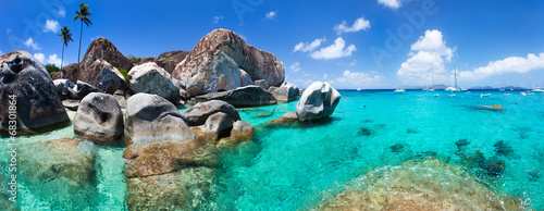 Staande foto Strand Beautiful tropical coast at Caribbean
