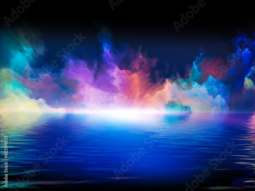 Photo sur Toile Fractal waves Synergies of Colors