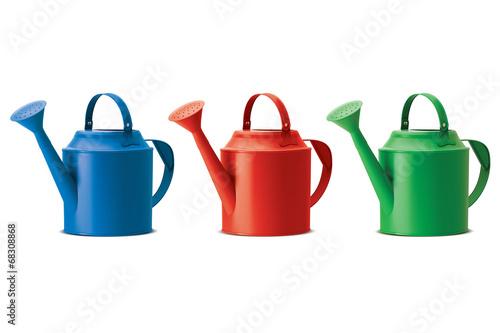 Obraz na plátně Watering cans set. Isolated. Vector illustration