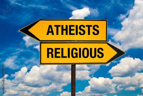 Atheists or Religious Canvas Print