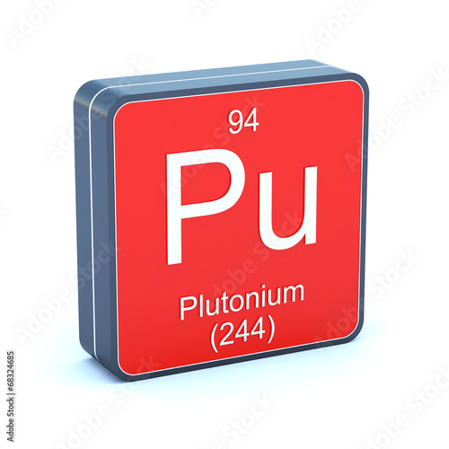 Plutonium Element Of The Periodic Table On 3d Red Icon Buy This