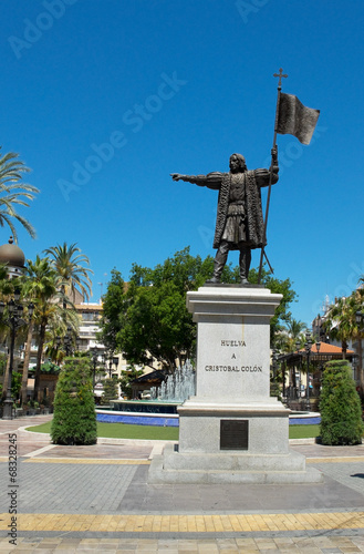 Cristobal Colon monument. Huelva, Andalucia. Spain