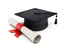 Mortar Board And Diploma