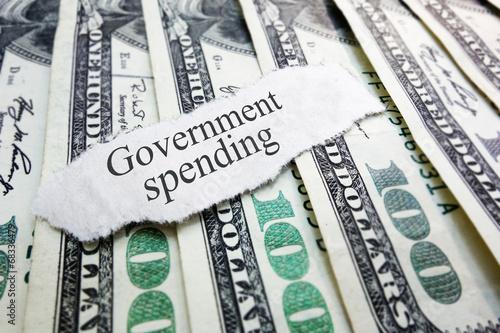 Valokuvatapetti government spending