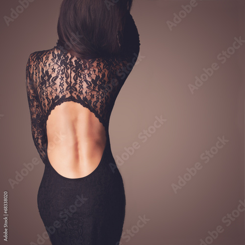 Fotografie, Obraz  Black lace dress
